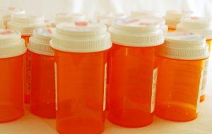 Prescription bottles used to store medicine
